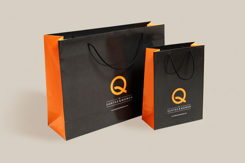 Quality Printed Luxury Paper Carrier Bags Rope Handles